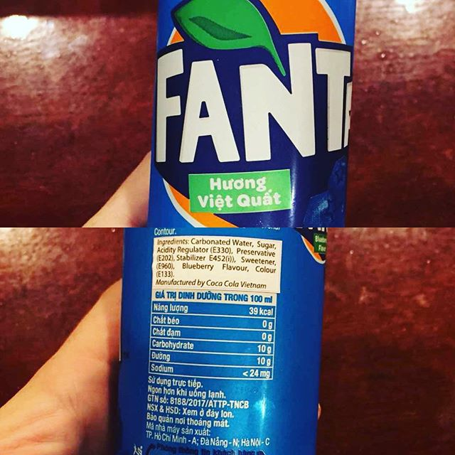 blueberry fanta from vietnam