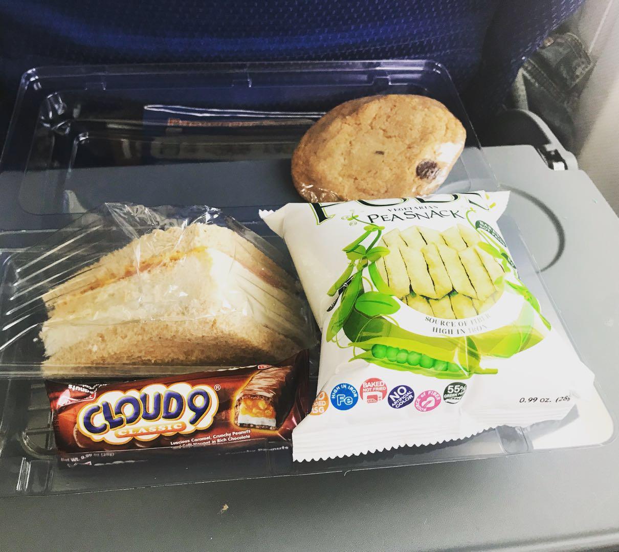 nauru pea snack and sandwich