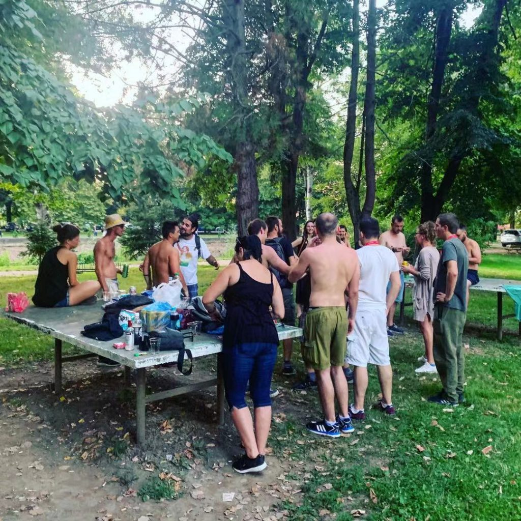 Park Party! Weird drinks and shirts off in Prijedor
